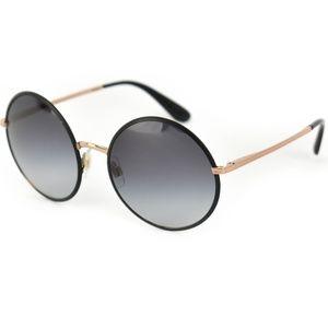 DOLCE & GABBANA Black/Rose Gold Logo Sunglasses mn